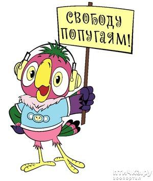 фото: Свободу попугаю!