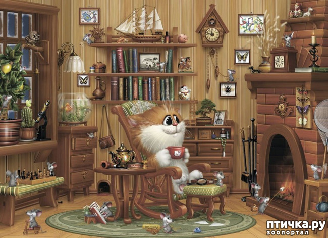 фото 1: Художник Алексей Долотов. Жил забавный рыжий кот…