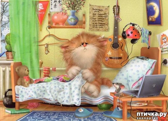 фото 3: Художник Алексей Долотов. Жил забавный рыжий кот…