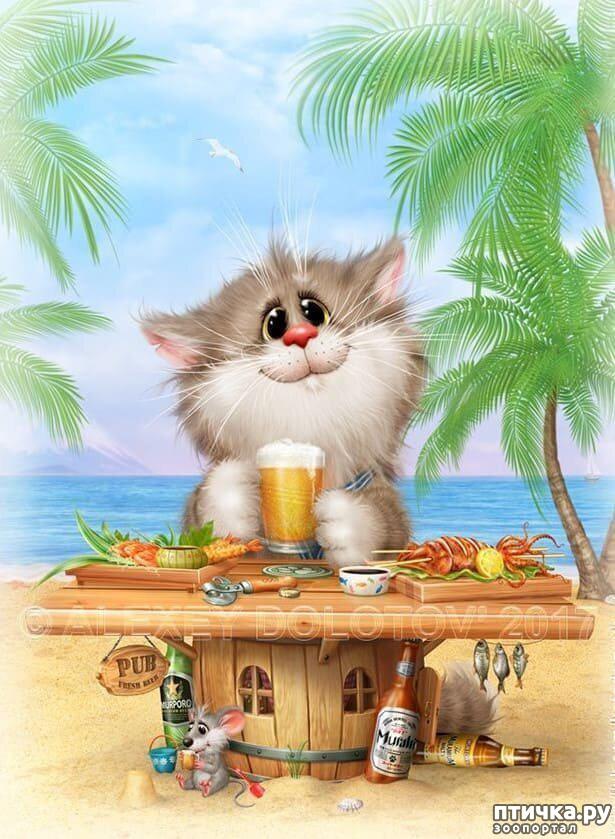 фото 4: Художник Алексей Долотов. Жил забавный рыжий кот…