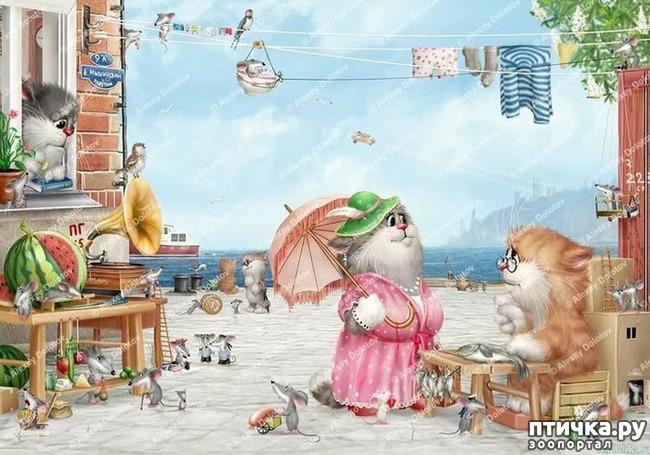 фото 10: Художник Алексей Долотов. Жил забавный рыжий кот…