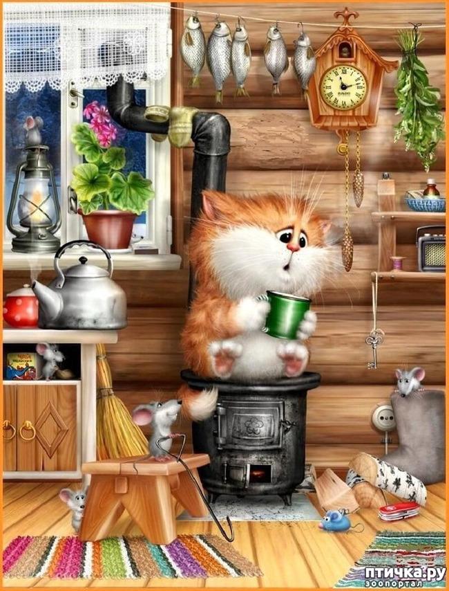 фото 16: Художник Алексей Долотов. Жил забавный рыжий кот…